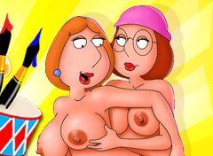 Lois and Meg Lesbian game