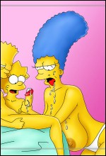 Bart, Lisa And Marge Simpson threesome sex