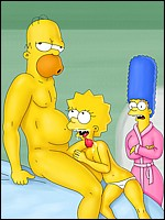 Sexy Lisa Sucking Homer's Cock