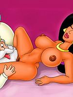Sultan licks Jasmine's Pussy